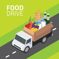 Food Drive Isometric Vector
