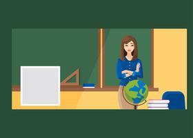 Teacher Facebook Cover Vector