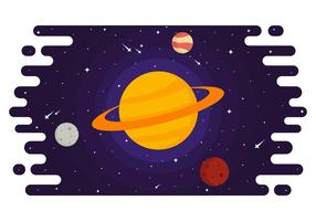 Rings of Saturn Vector Illustration