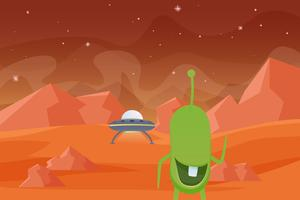 Unique Martian Landscape Vectors