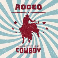 rodeo flyer vector ontwerp