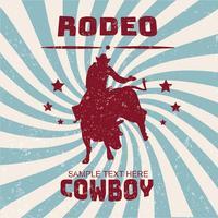 Rodeo Flyer Vector Design