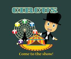 vetor de cartaz de circo