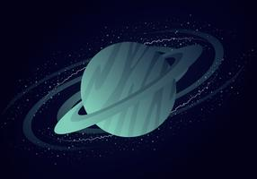 Saturn Planet On Galaxy vector