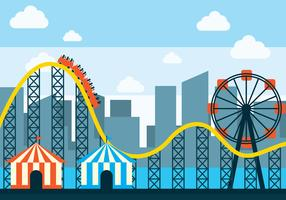 Rollercoaster Vector Illustration