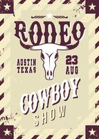 Rodeo Flyer Wilde Westerse Sjabloon Vector