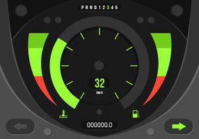 Simple Car Dashboard UI Gratis Vector