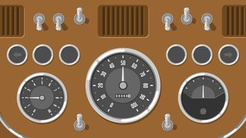Classic Car Dashboard UI Free Vector