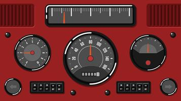 Old Car Dashboard UI Free Vector