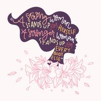 Woman Quote Vector Illustration