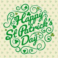 Happy St Patrick Day Background vector