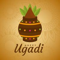 Ugadi heureux Vector Background