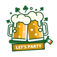 St Patrick's Day Beer Sticker