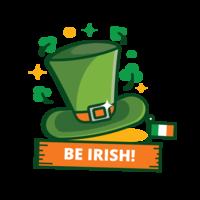 Autocollant Chapeau vert St Patrick