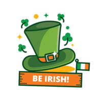 St Patrick's Day Green Hat Sticker vector