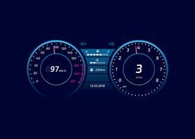 Car Dashboard UI Modern Vector
