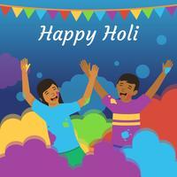 Gelukkig Holi-festival