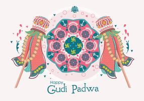 Gudi Padwa Illustrations-Vektor