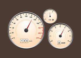 Car Dashboard Classic UI Vector