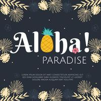 aloha paraíso vector