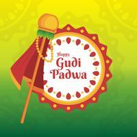 Gudi Padwa Feier der Indien-Illustration