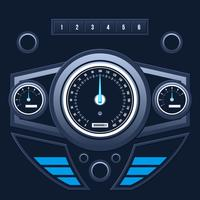 Modern Car Dashboard UI Vector