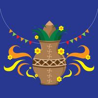 Ugadi Decoratie Vector