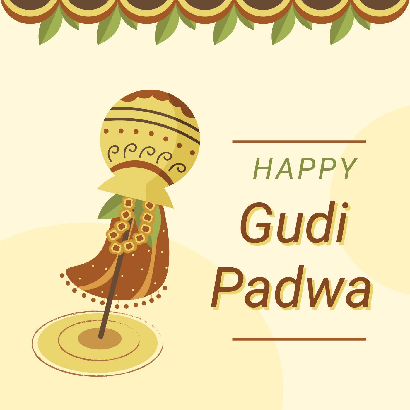 Gudi Padwa Celebration Vector Download Free Vector Art Stock