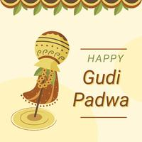 Gudi Padwa Celebration Vector