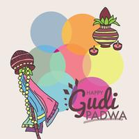 Colorful New Year Gudi Padwa