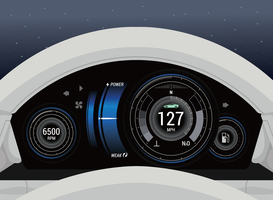 Car Dashboard Ui  vector