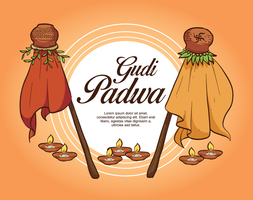 Gudi Padwa Illustration
