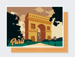 Vecteur de carte postale de Paris