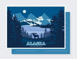Alaska Postcard Vector
