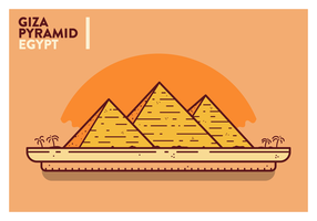Vector de la postal de Egipto