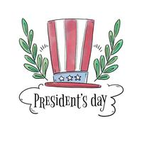 American President Hat Between Branches And Clouds vector