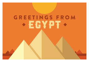 Egypte briefkaart Vector