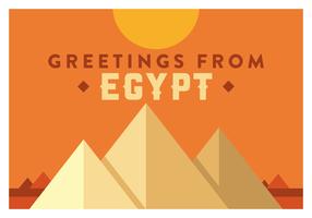 Egypten vykort vektor