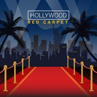 Hollywood Red Carpet Stage Vector Illustration Background