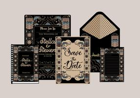 Vecteur d'invitation Art déco