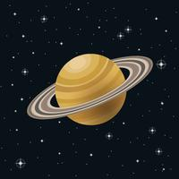 Ringe des Saturn-Illustrations-Vektors