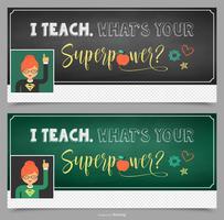 Teacher Facebook Cover Vector Design