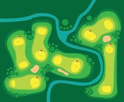 View Top Golf Course Vector