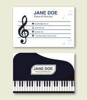 Musician Business Card Template vector