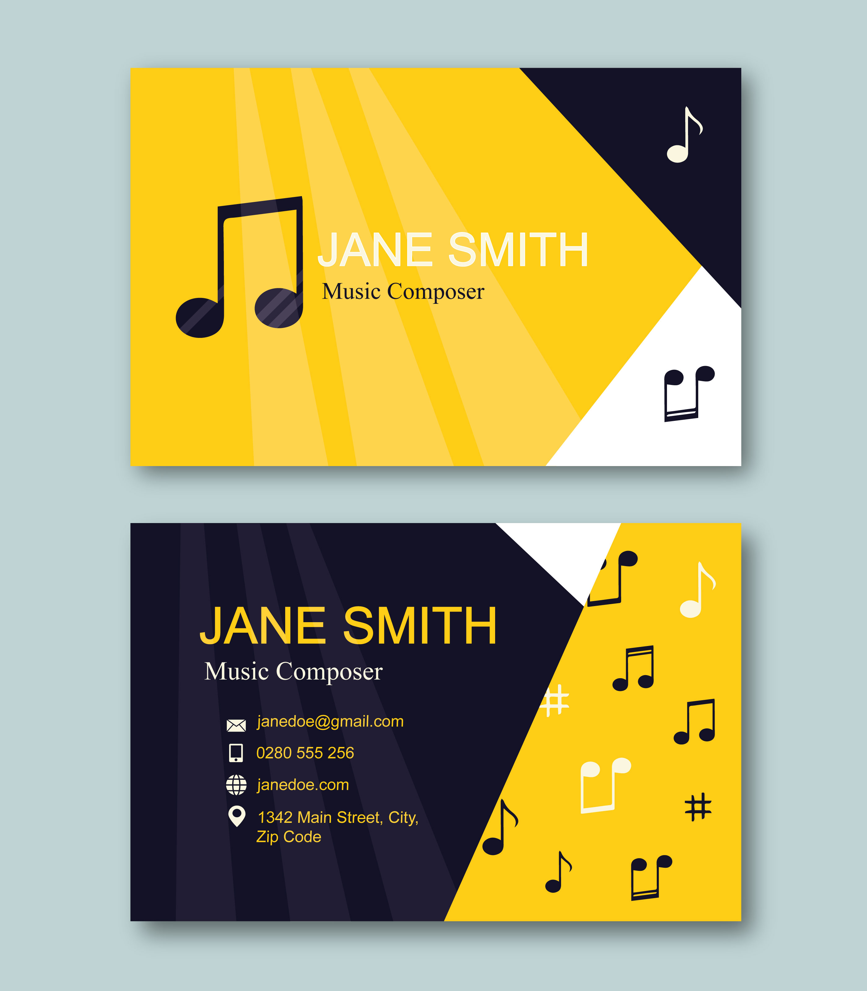Music Composer Business Card Template - Download Free Vector Art ...