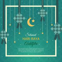 Aidilfitri Greeting Card Vector Template