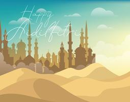 Aidilfitri Illustration