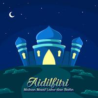 Night Of Aidilfitri Vector
