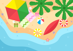 Aerial Beach View Background