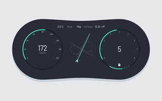 Unique Car Dashboard UI Vectors